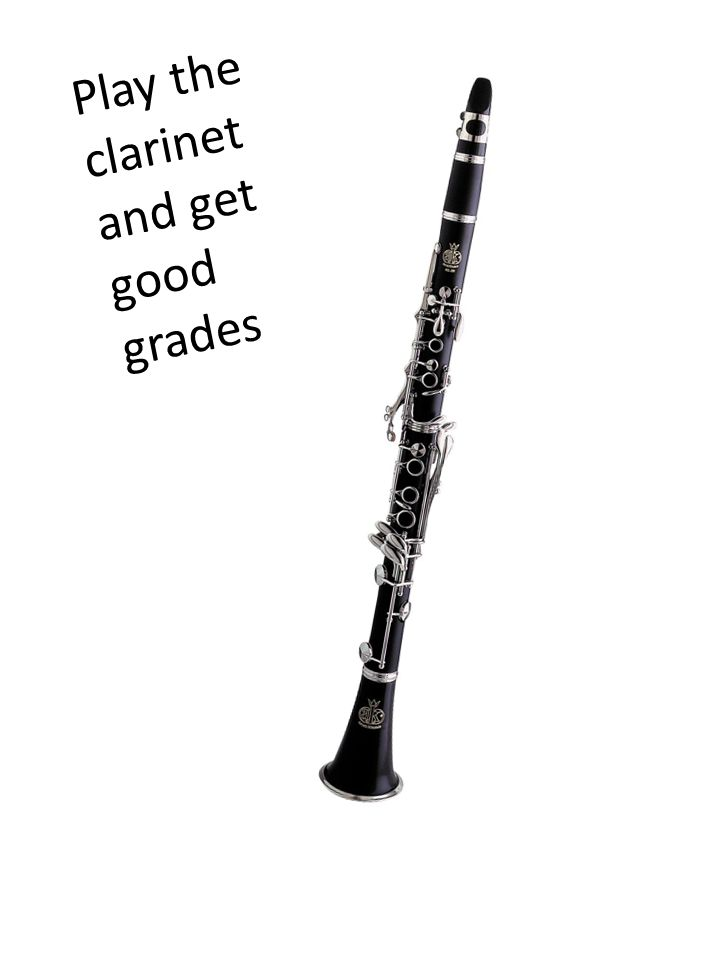 Play the clarinet and get good grades