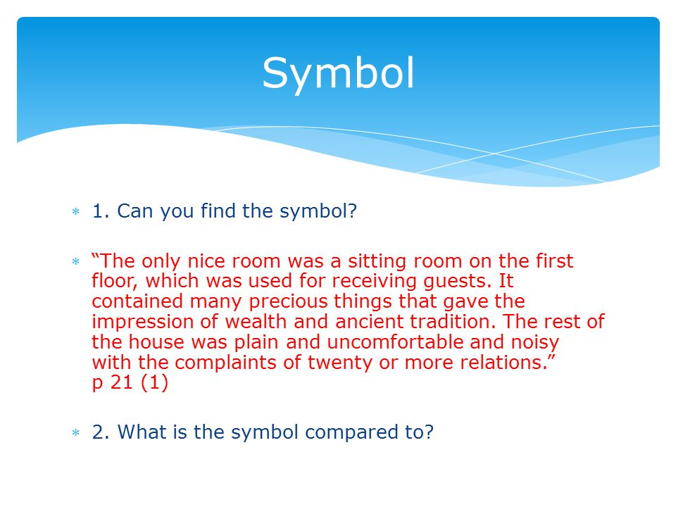 1. Can you find the symbol.