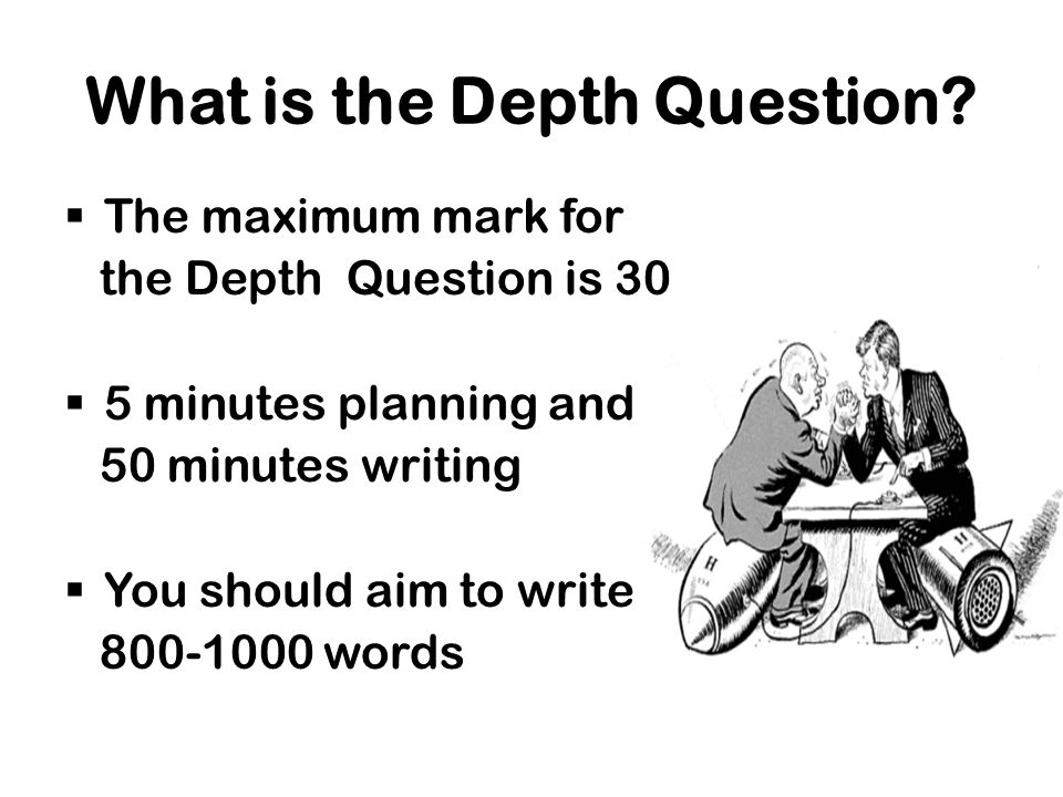 What is the Depth Question.