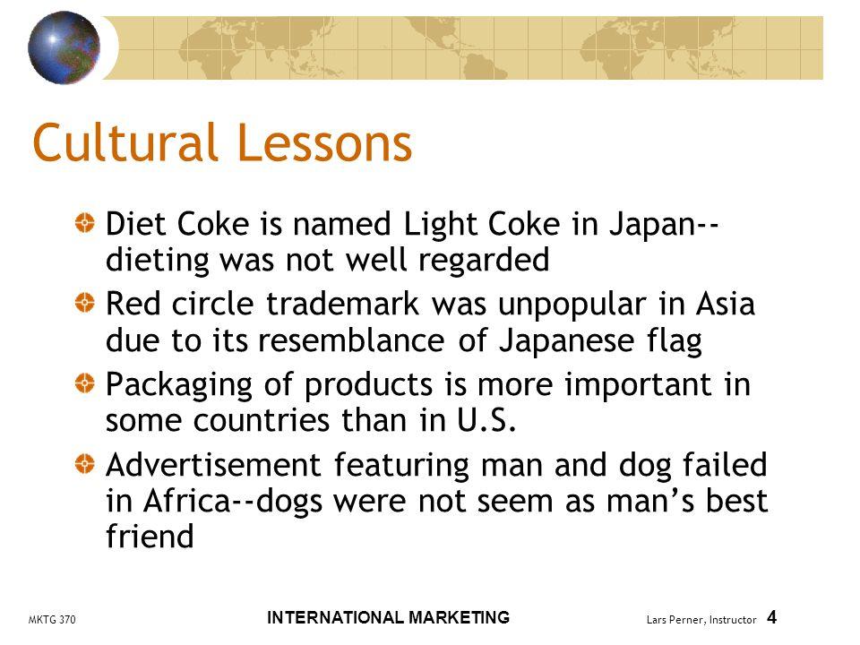 MKTG 370 INTERNATIONAL MARKETING Lars Perner, Instructor 5 More Cultural Lessons...