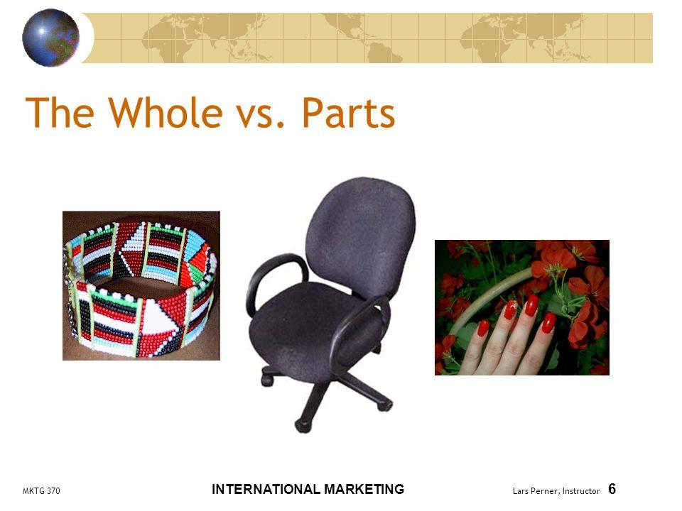 MKTG 370 INTERNATIONAL MARKETING Lars Perner, Instructor 27 Physical Product vs.