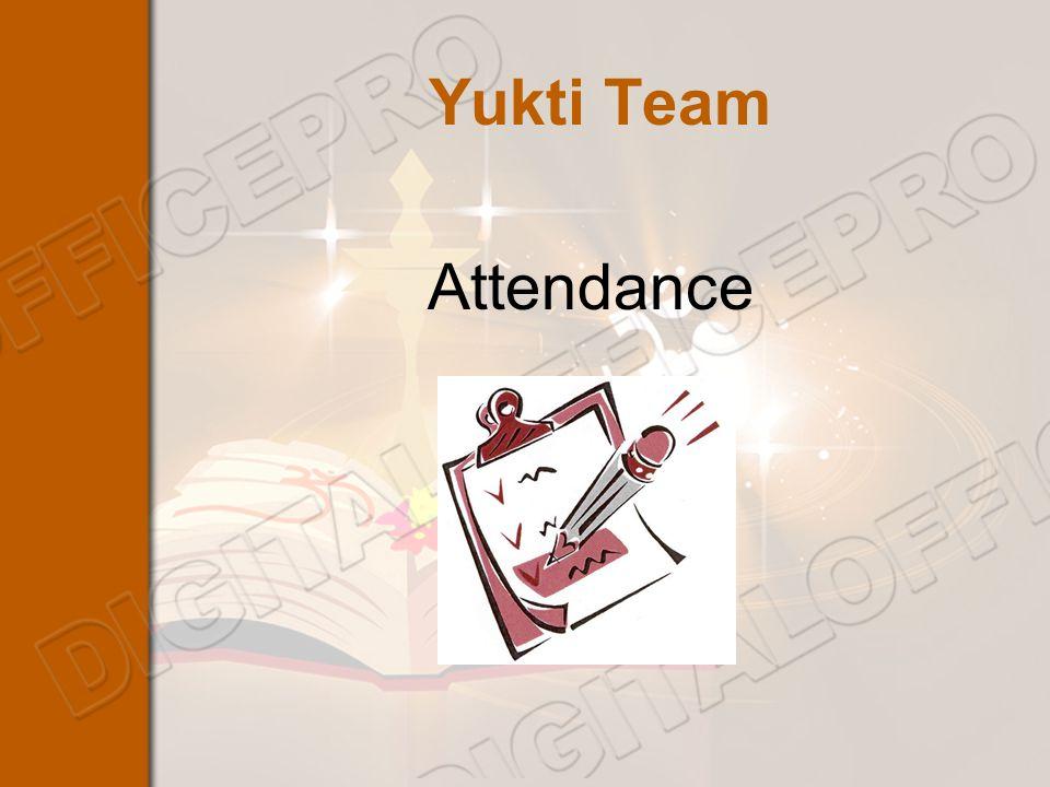 Yukti Team Attendance
