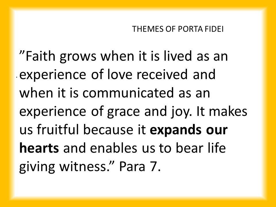 THEMES OF PORTA FIDEI.