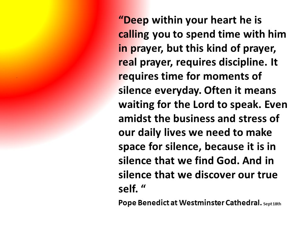 Pope Benedict at Westminster Cathedral. Sept 18th.