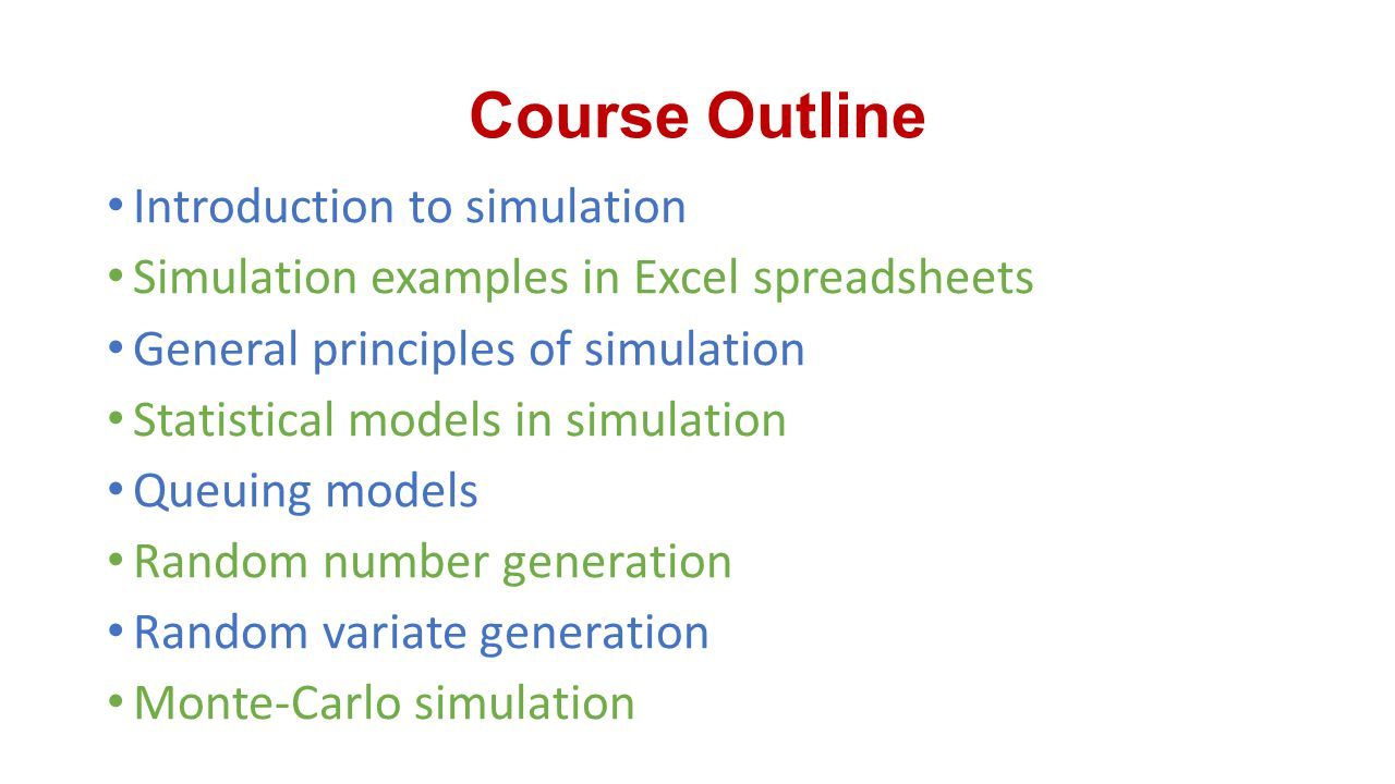 Lecture (1) Introduction to Systems and Simulation
