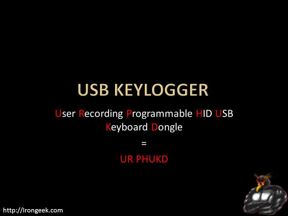 User Recording Programmable HID USB Keyboard Dongle = UR PHUKD