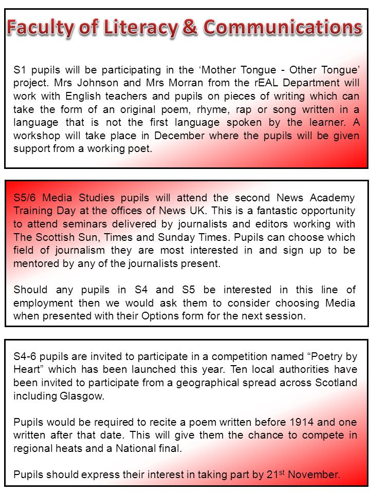 S5/6 Media Studies pupils will attend the second News Academy Training Day at the offices of News UK.