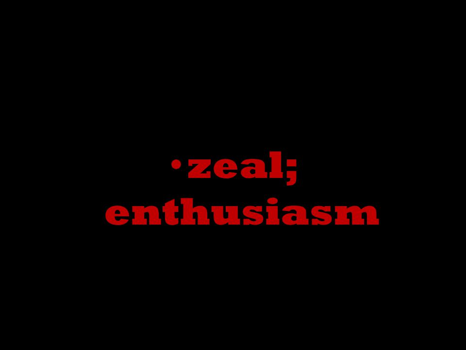 zeal; enthusiasm