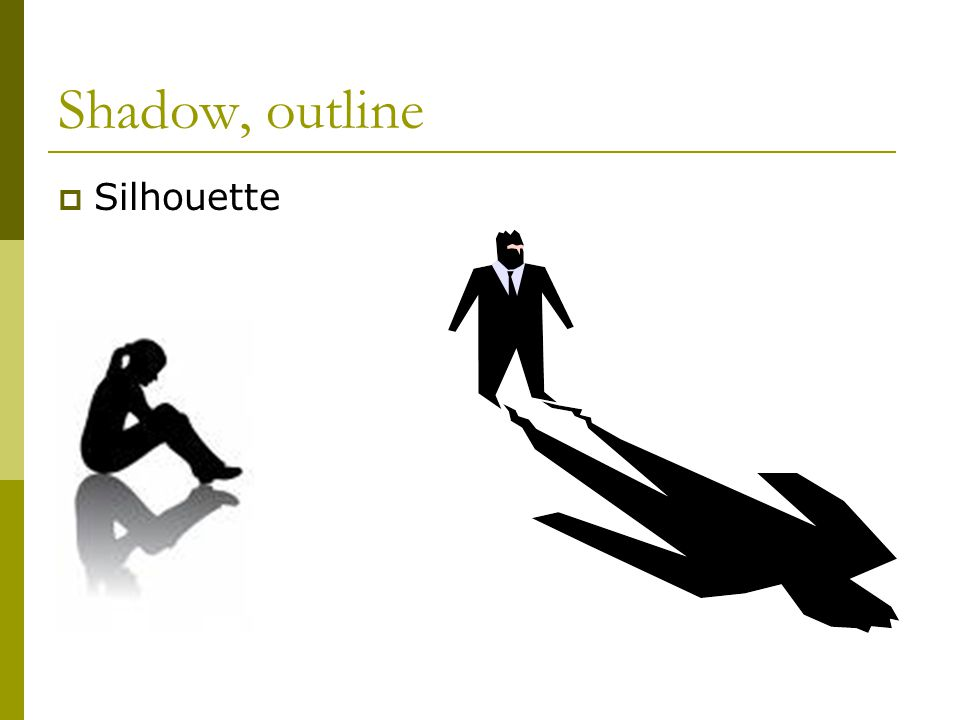 Shadow, outline  Silhouette