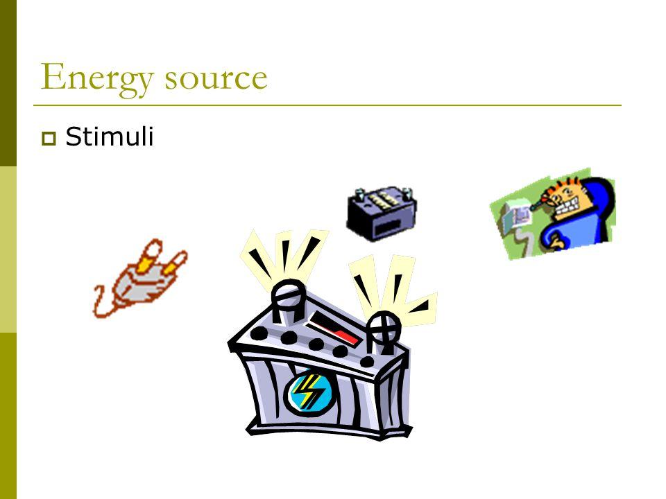 Energy source  Stimuli
