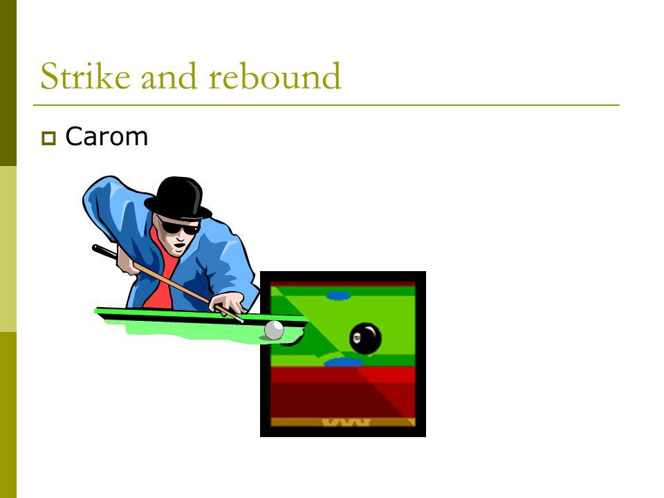 Strike and rebound  Carom