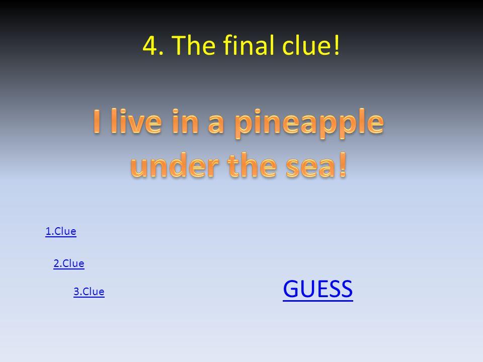4. The final clue! GUESS 1.Clue 2.Clue 3.Clue
