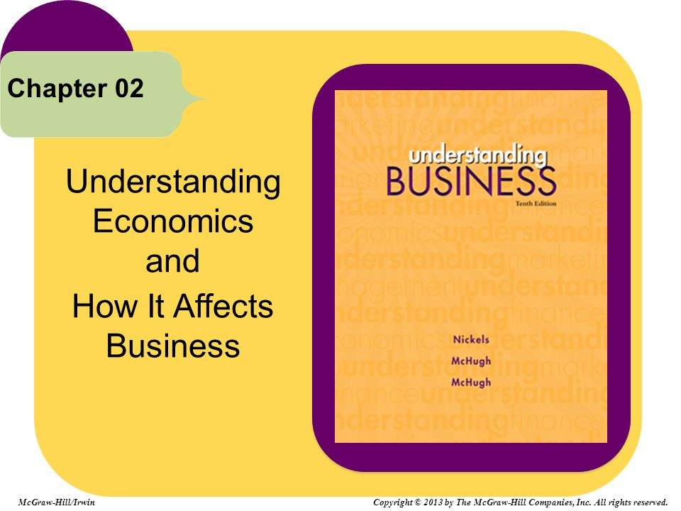 Understanding Economics and How It Affects Business Chapter 02 McGraw-Hill/Irwin Copyright © 2013 by The McGraw-Hill Companies, Inc. All rights reserv