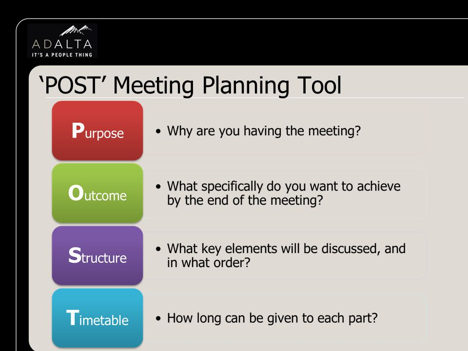 'POST' Meeting Planning Tool