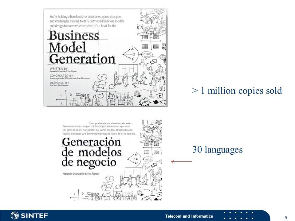 Telecom and Informatics 9 > 1 million copies sold 30 languages