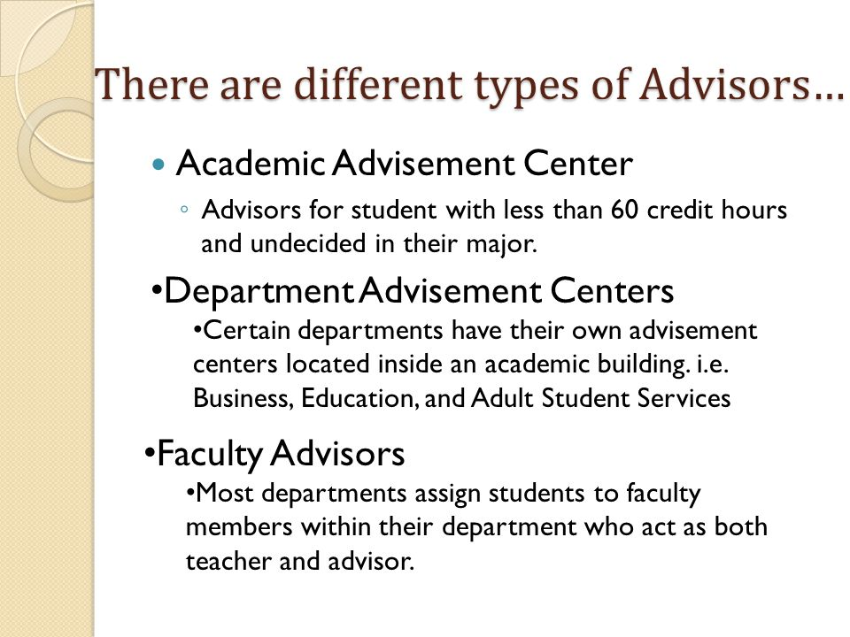 Be prepared for Advising Appointments Create a few class schedules that include the courses you wish to take.