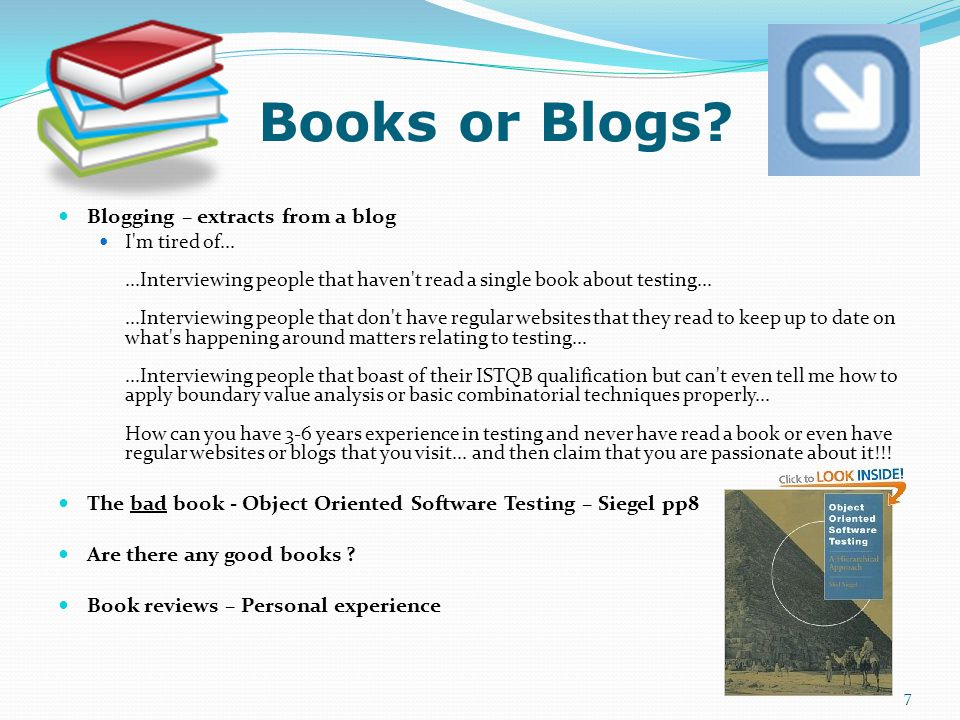 Books or Blogs.