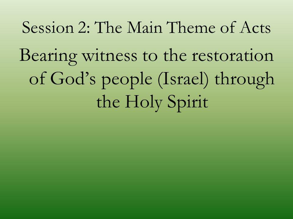 Main Theme 1. Bearing witness... -Martyreo, diamartyromai, martus, et al.