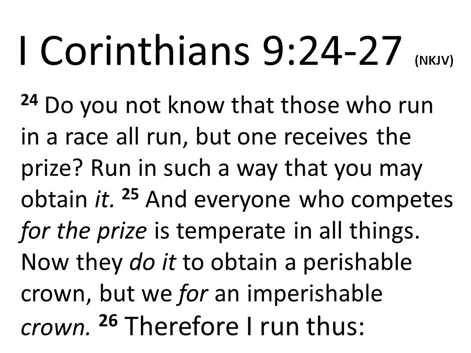 God Speaks  Discipline is certainly not easy  Those athletes who desire to win a prize that is perishable are willing to discipline themselves and suffer just to win  We who are striving for an imperishable crown, are we also willing to discipline ourselves and suffer just to win?