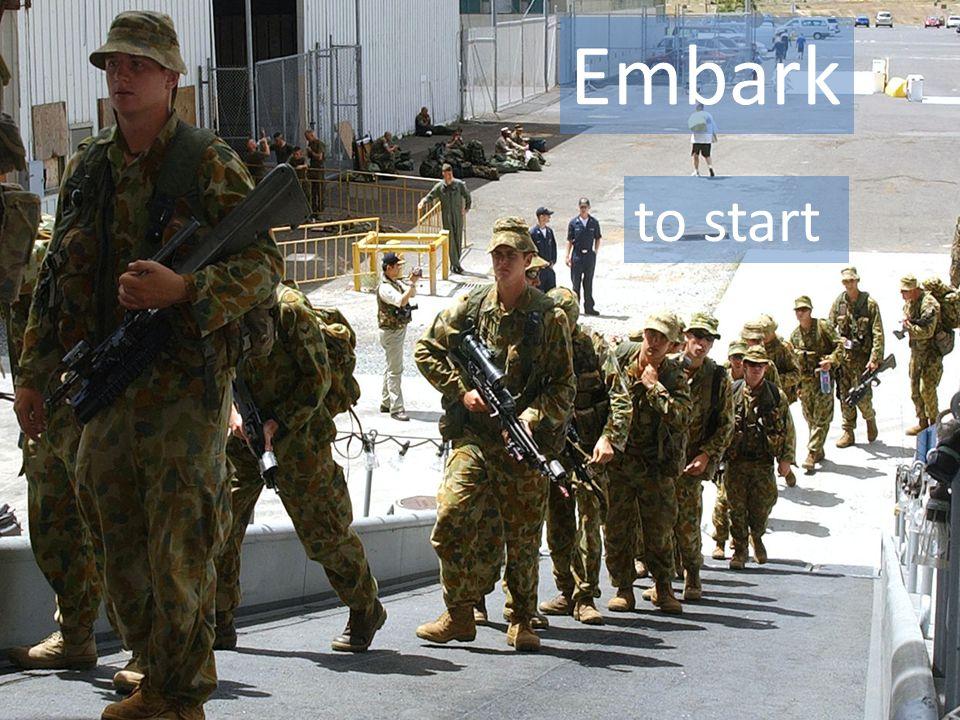 Embark to start