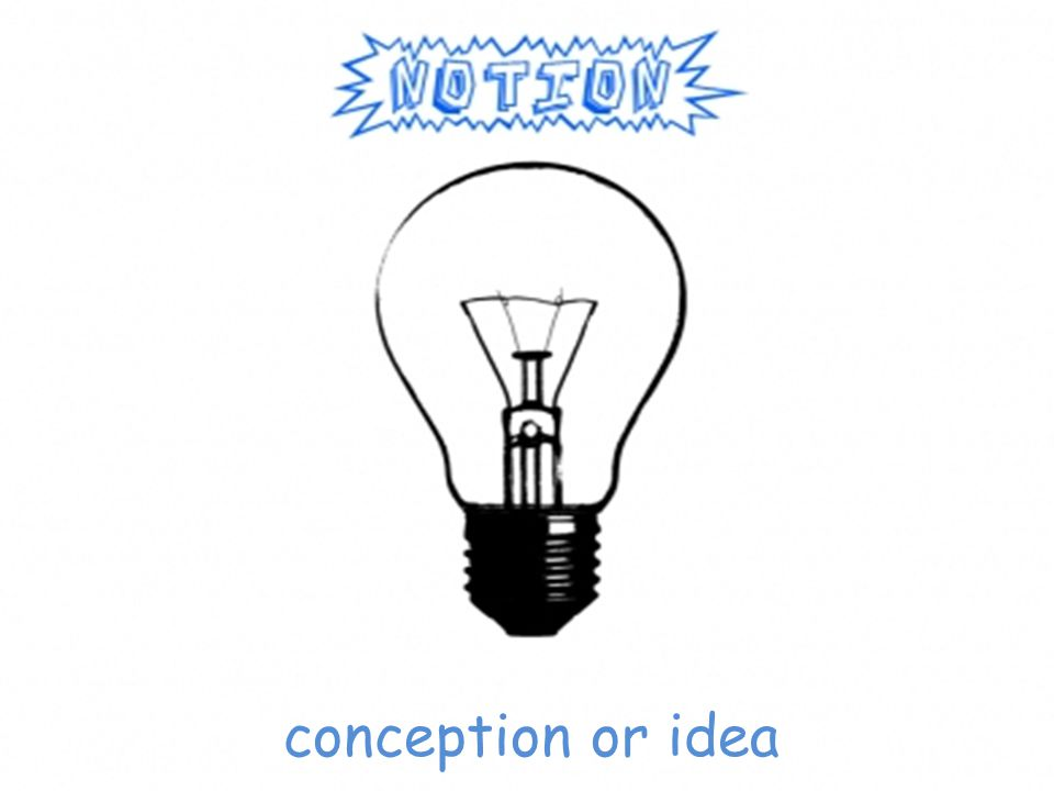 conception or idea