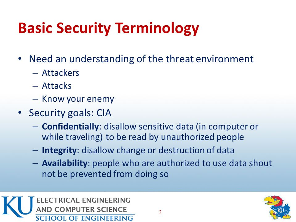 Security Compromises When a threat succeeds in causing harm to a business Compromise, breach, incident Countermeasures: tools used to thwart the attacks – AKA safeguards or controls – Can be technical, human, mixture of two The TJX case study 3