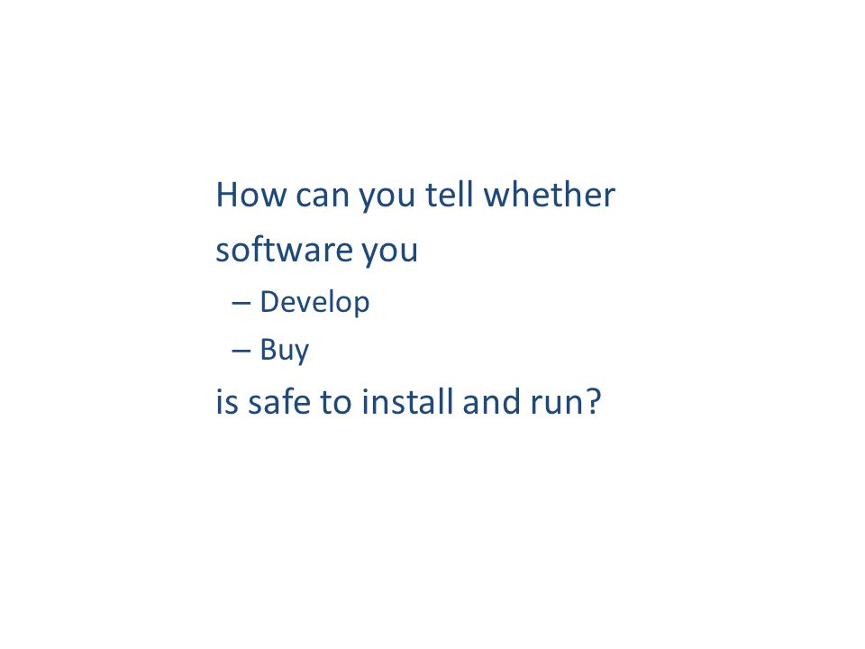 Example security holes /* 2.4.9/drivers/isdn/act2000/capi.c:actcapi_dispatch */ isdn_ctrl cmd;...