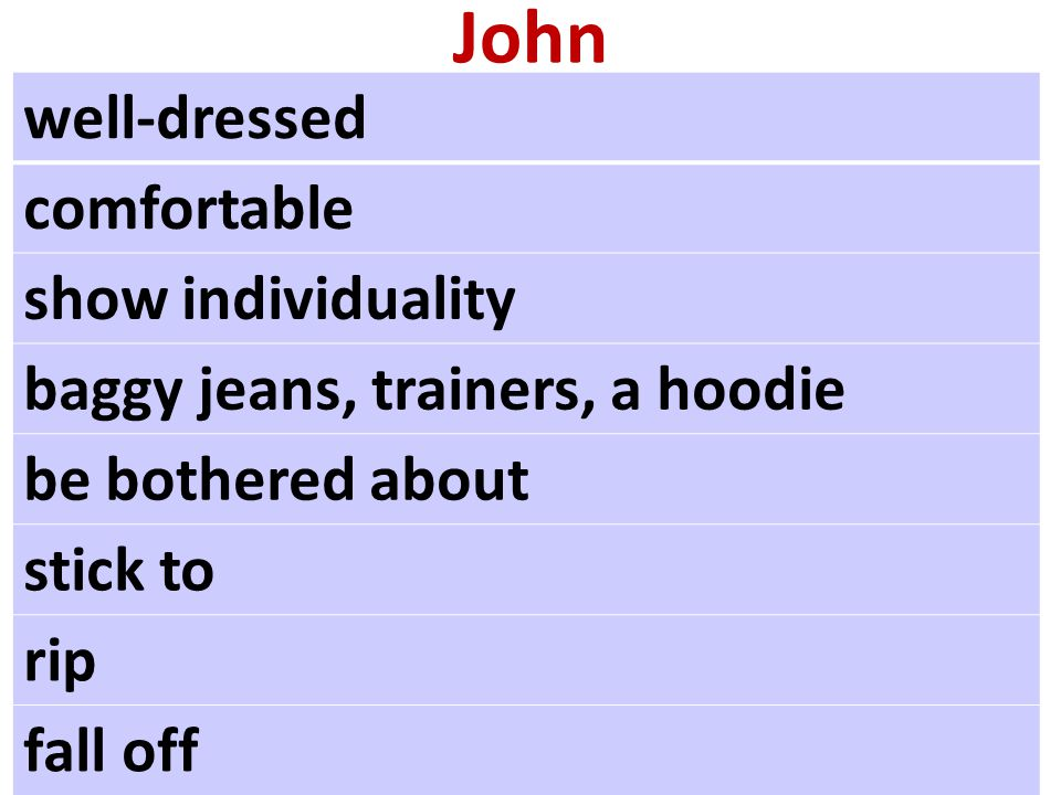 John well-dressed comfortable show individuality baggy jeans, trainers, a hoodie be bothered about stick to rip fall off