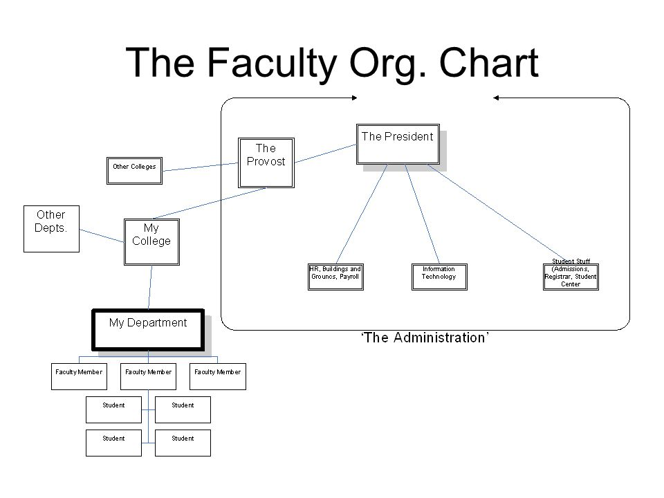 The Faculty Org. Chart