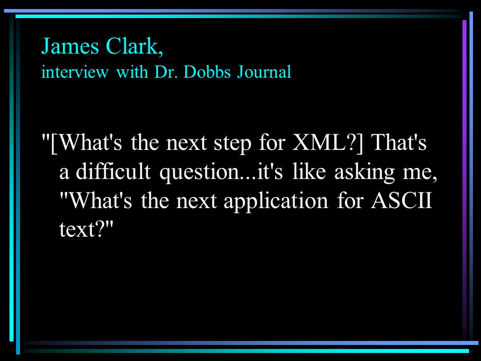 James Clark, interview with Dr.