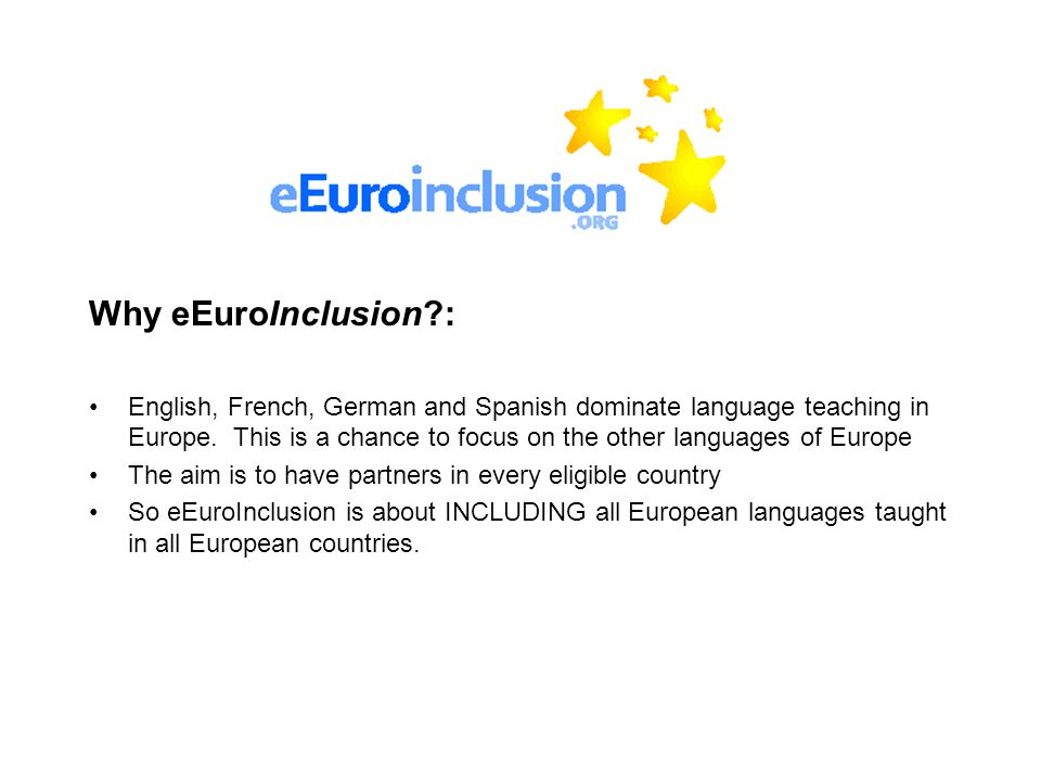 Limitations: The eligible languages are limited to national languages.