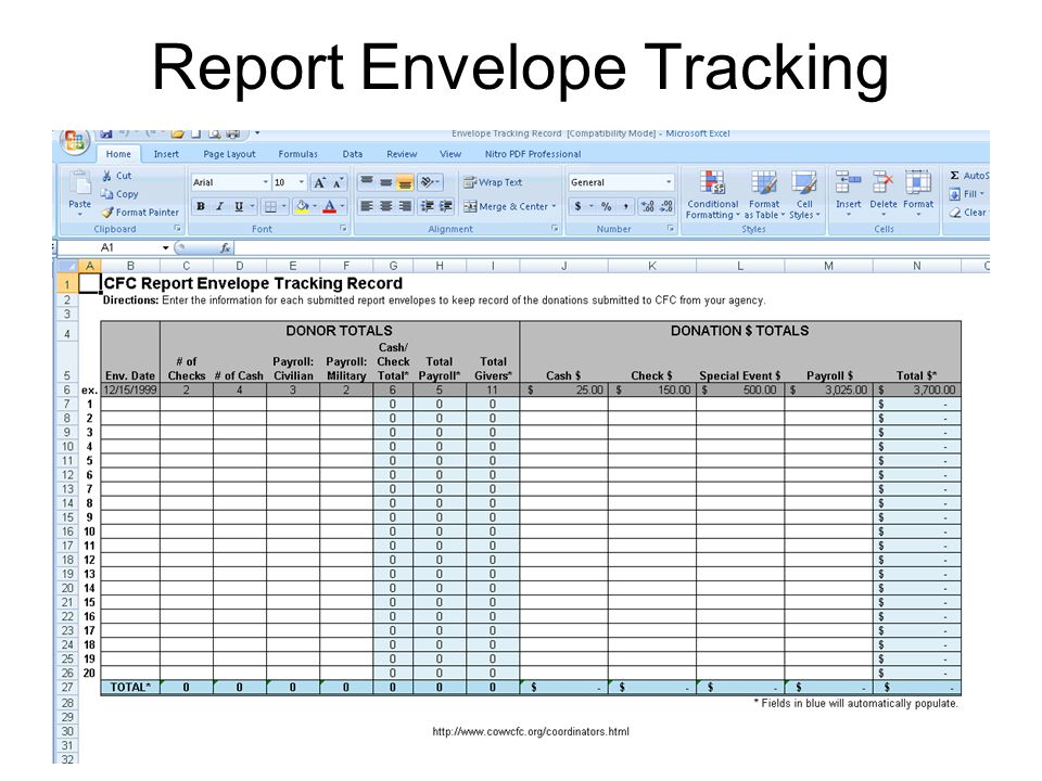 22 Report Envelope Tracking