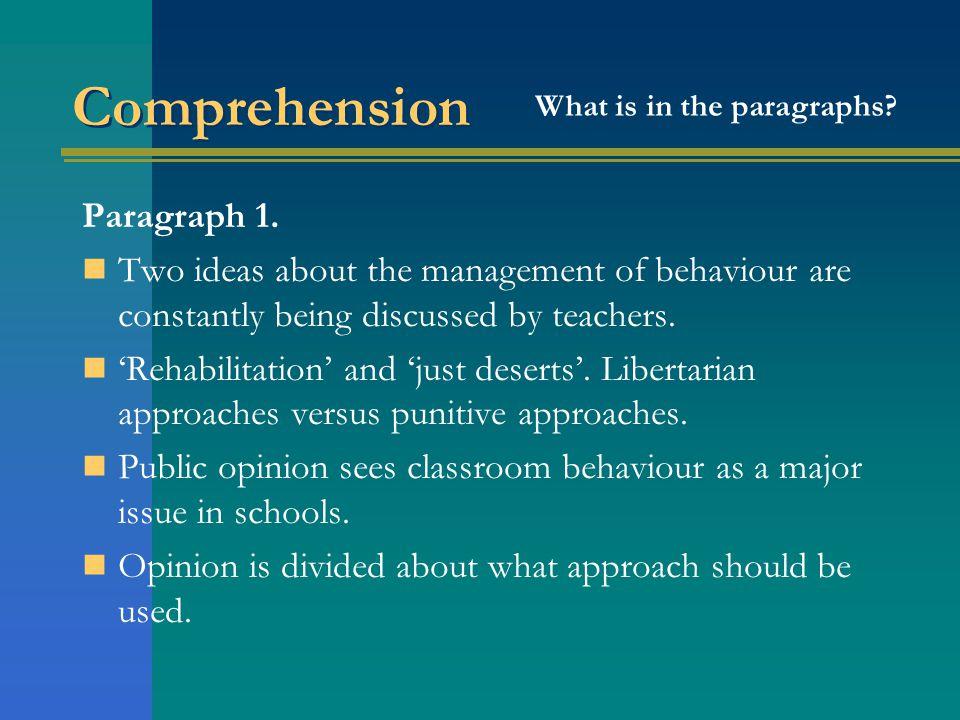 Comprehension Paragraph 1.