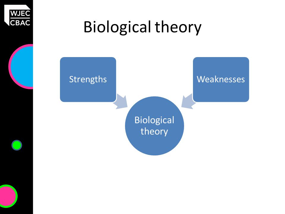 Biological theory StrengthsWeaknesses