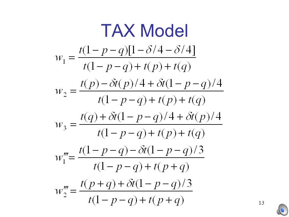 13 TAX Model