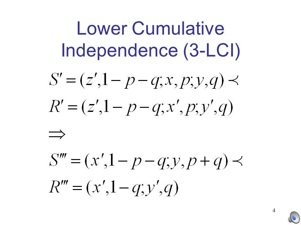 4 Lower Cumulative Independence (3-LCI)