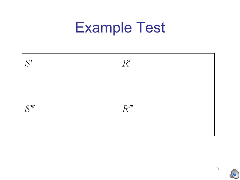 7 Example Test