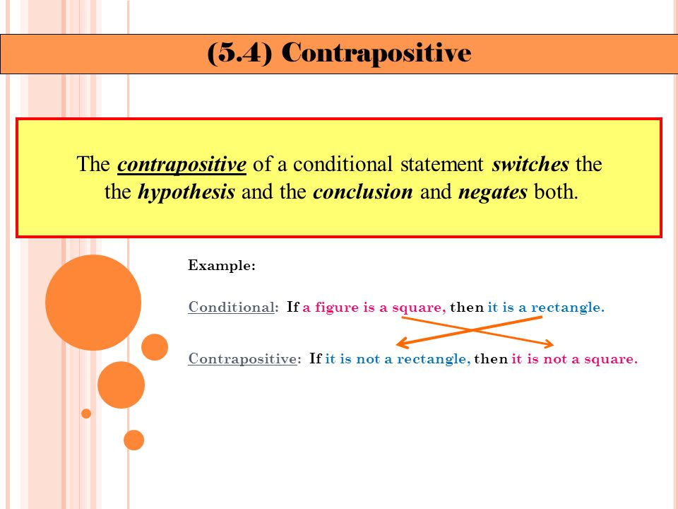 Example: Write the (a) the inverse and (b) contrapositive of Maya Angelou's statement.