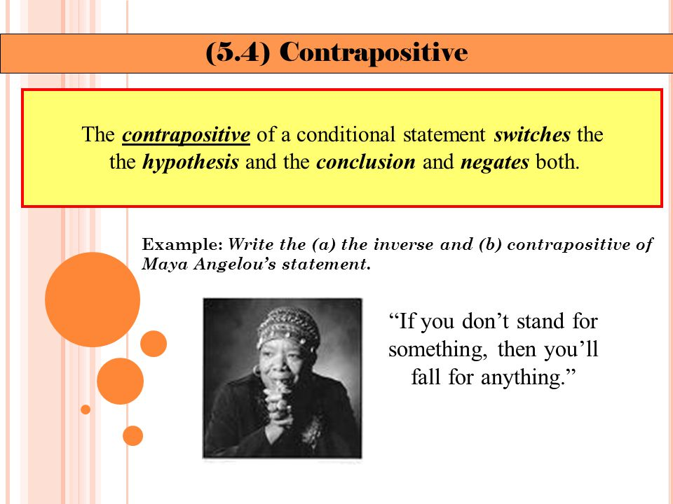 Example: Identify the two statements that contradict each other.