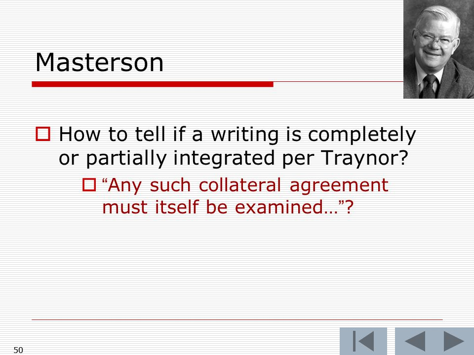 Masterson  How to tell if a writing is completely or partially integrated per Traynor.