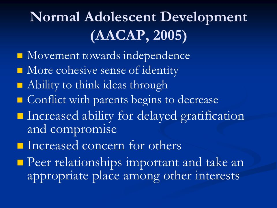 3 Treatments top the list for adolescents ALL focus on family/ caregivers Functional Family Therapy Multidimensional Treatment Foster Care Multisystemic Therapy