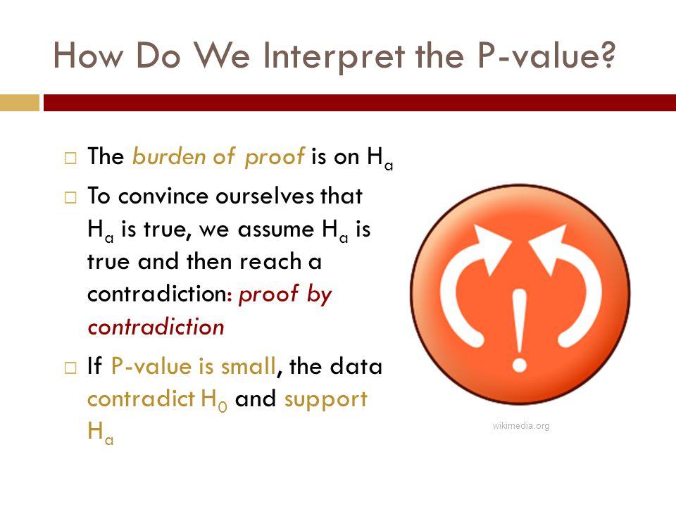 How Do We Interpret the P-value.