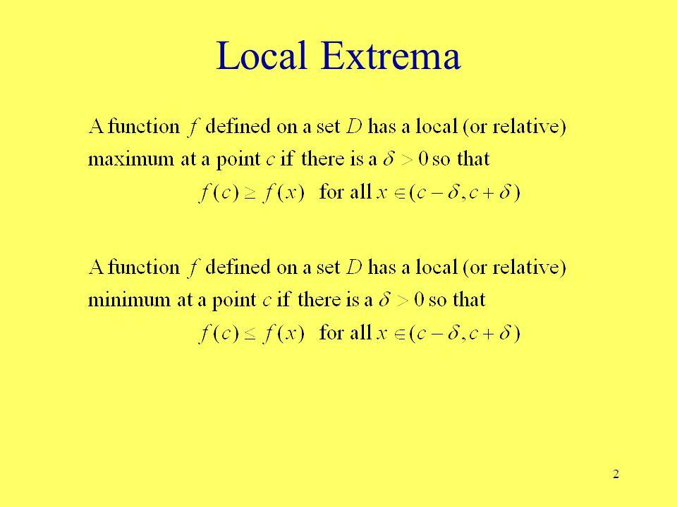 2 Local Extrema