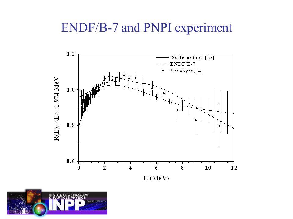 ENDF/B-7 and PNPI experiment
