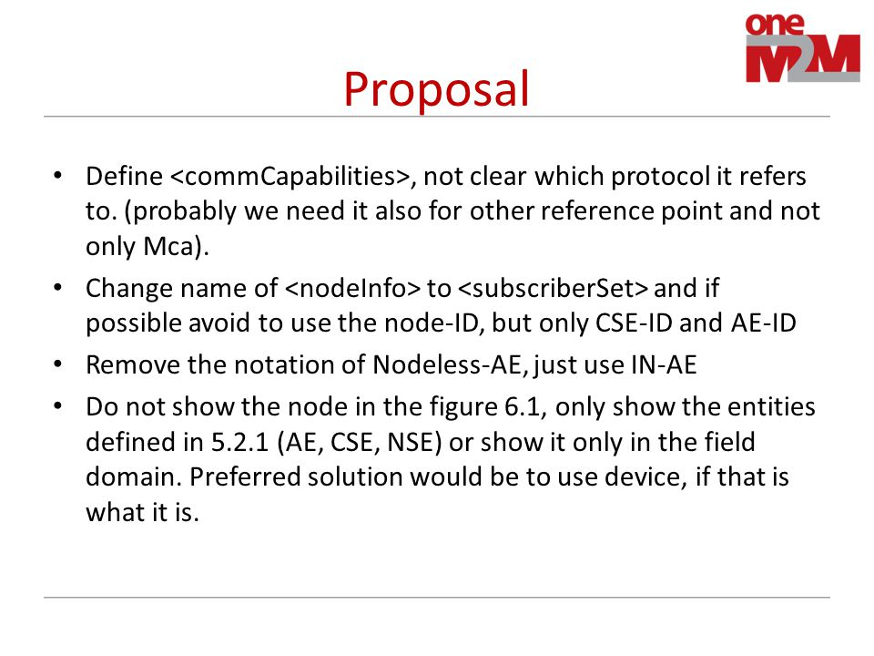 Proposal Define, not clear which protocol it refers to.