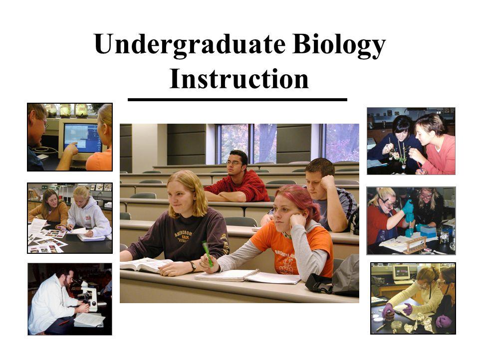Undergraduate Biology Instruction