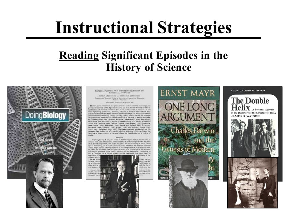 Instructional Strategies Reading Significant Episodes in the History of Science