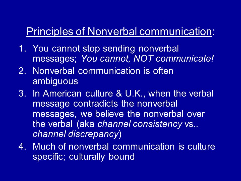 Functions of nonverbal communication: - Repeating - Complementing (illustrators) – supplement the verbal - Substituting – substitute for the verbal words e.g.