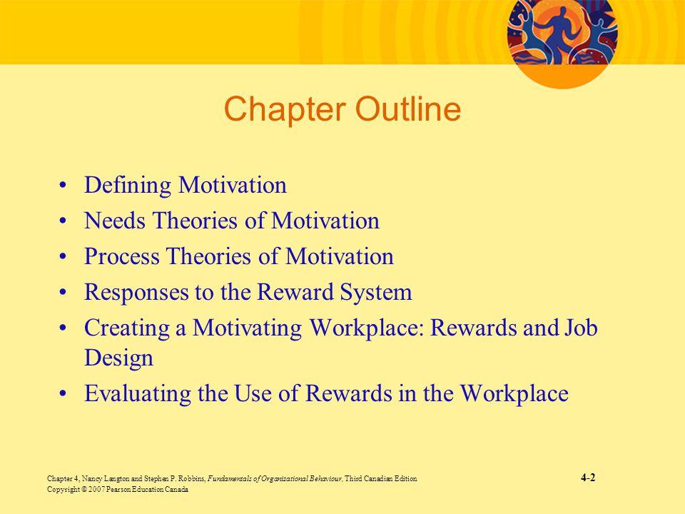Chapter 4, Nancy Langton and Stephen P. Robbins, Fundamentals of Organizational Behaviour, Third Canadian Edition 4-2 Copyright © 2007 Pearson Educati