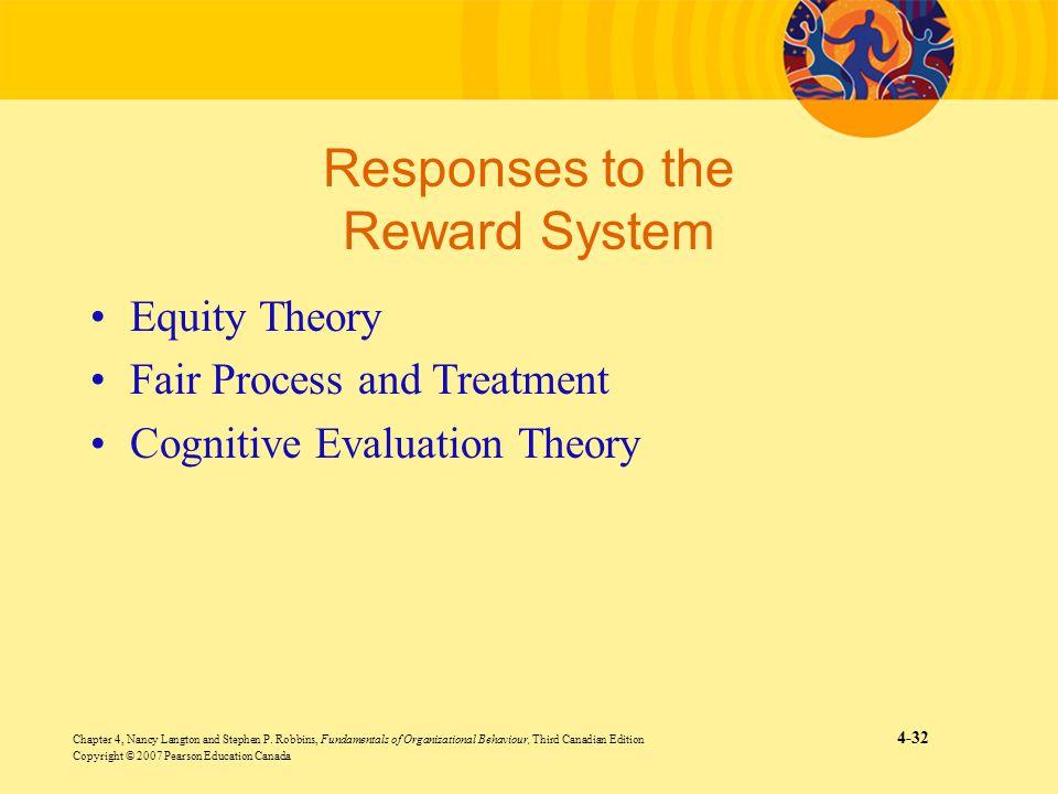 Chapter 4, Nancy Langton and Stephen P. Robbins, Fundamentals of Organizational Behaviour, Third Canadian Edition 4-32 Copyright © 2007 Pearson Educat
